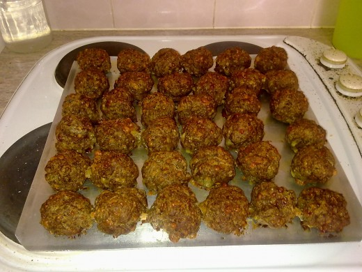 meatballs made ready to devour