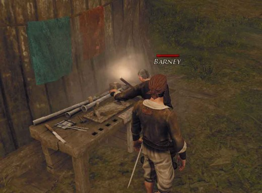 Risen 2 Location of Skills Teachers - Barney the Gunsmith is ready to teach the nameless hero some new skills