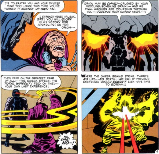 Darkseid killing Desaad