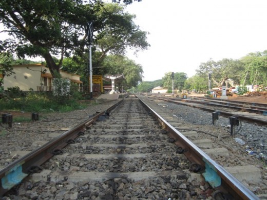 Angadippuram Station And Rail line
