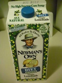 Newman's Own Diet Lemonade contains all-natural Stevia.