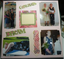 Easy to Make Graduation Scrapbook Layout Ideas