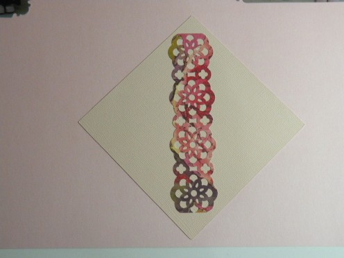 Lacey Border Trim & mat adhered to card