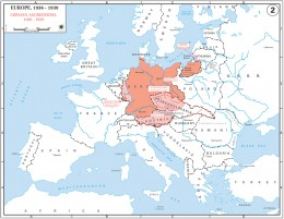 A map of German Aggression's from 1936-1939
