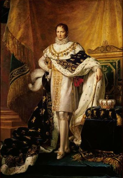 Napoleon's brother, Joseph (portrayed here as the King of Spain) managed to escape to America, while his brother handed himself into the British.