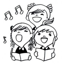 children singing coloring pages - photo#5