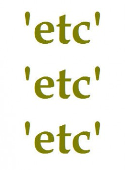 Et Cetera, Etcetera, Etc. and Related Errors in English