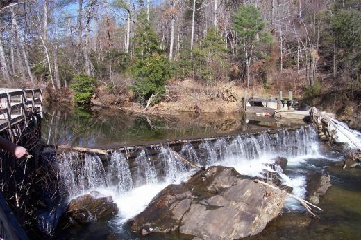 dam at a grist mill
