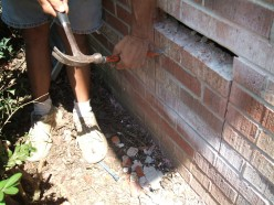 In another spot we were able to punch out the top trace of brick and continue on down easily.