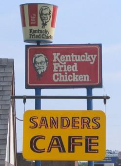 Kentucky Fried Chicken began as Harlan Sanders Cafe in Corbin, Kentucky.