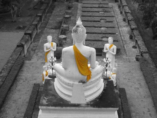 Buddha images. Taken in Ayutthaya near Bangkok with Canon Powershot G12.