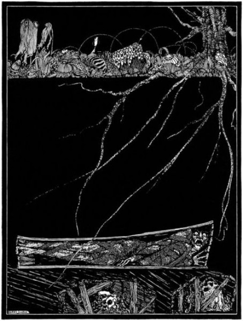 """The Premature Burial"", illustrated by Harry Clarke (1889-1931), published in 1919."