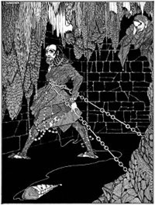 """The Cask of Amontillado"" illustrated by Harry Clarke (1889-1931), published in 1919."
