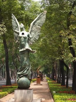 """Las Puertas del Alma (The Doors of the Soul)"" 2006. Bronze Sculpture by Mexican Artist Jorge Marin. Mexico City Open Air Exhibit at ""Paseo de la Reforma (Chapultepec)""."