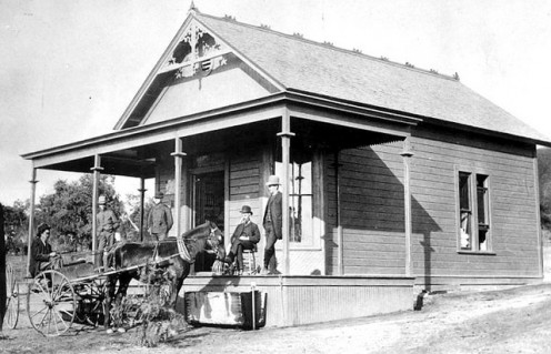 Early grocery store from 1887.