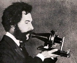 Actor portraying Alexander Graham Bell in early AT & T promotional film 1926.