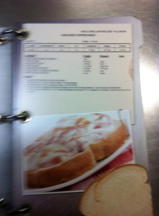 The Navy's version of one of my fav recipes SOS or Chipped Beef on toast - for 100!
