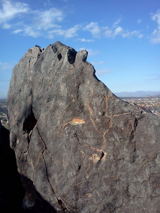 I love this rock - it reminds me of Jesus - THE ROCK! Whatever you are facing today, know this the Jesus wants to be your ROCK - the ONE you trust your life too. Jesus Loves YOU!!! :)