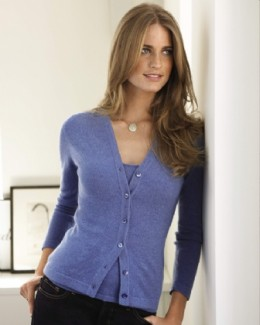 V-neck Cashmere Cardigan LK-003 Price: £99.00  Offer price: £74.25