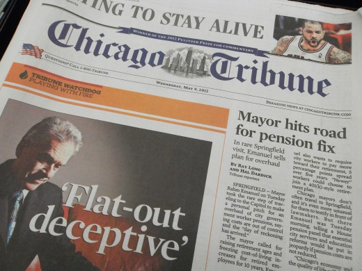 Newspapers do not usually have ads above the fold on the front page.