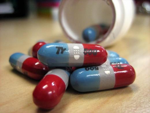 Tylenol (acetaminophen) rapid-release capsules.