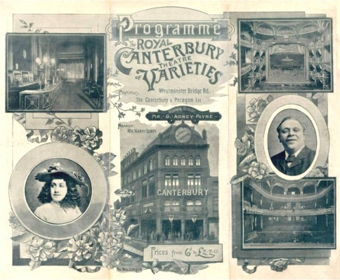 An 1893 program from the Canterbury Music Hall, by then named the Canterbury Theater.