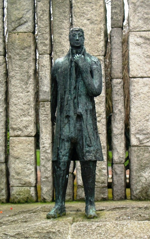 Edward Delaney's statue of Wolfe Tone at the corner of St Stephen's Green in Dublin