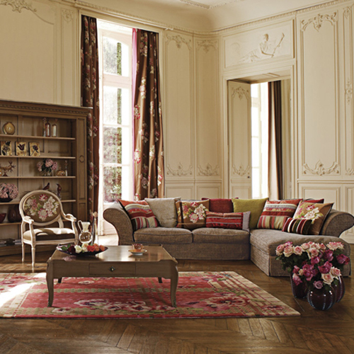 Dark reds and big white walls are commonly found in french country style furniture.