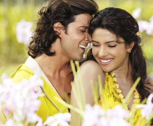 Hrithik Roshan and Priyanka Chopra in Krrish.