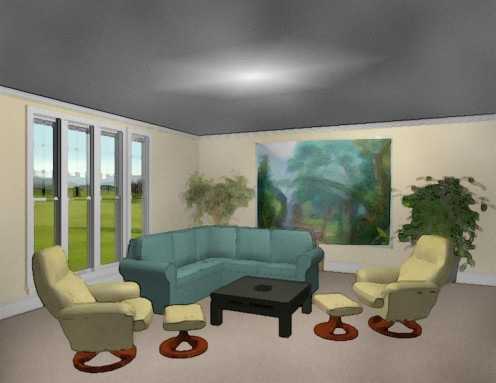 By properly placing the furniture in your living room you can create depth and make the room feel more spacious and comfortable.