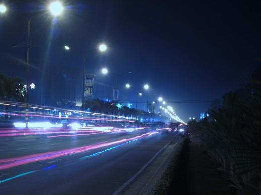 Tagum City at night