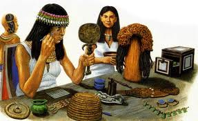 A depicting image of Egyptians using their make-up.