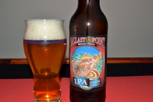 Sculpin IPA in the glass