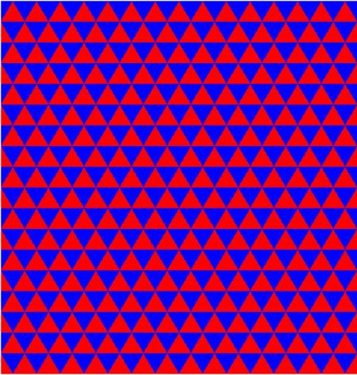 triangle regular tessellation