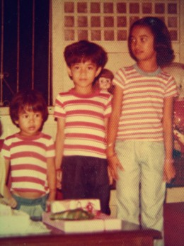 My brothers and I, we dressed alike, In t-shirts with red, white and blue stripes. In our blue jeans, the stripes were paired, I don't remember if we ever cared.  But not just stripes, there were checks too, I liked my playful looks for I love you!