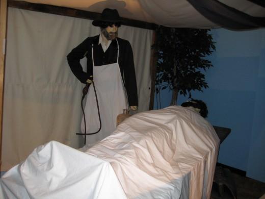 Embalming display