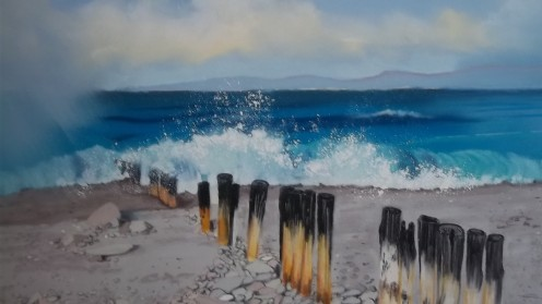 Pebble Beach Pastel on Paper