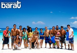 Calaguas Island Beach in Bicol, Philippines with the Biyahe Lokal Team