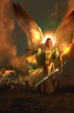The Arch Angel Michael declares war on the Devil
