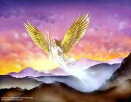 God gives the woman (who is now portraying the Church) wings which symbolise provision and constant renewing.