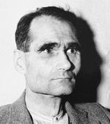 Rudolph Hess on trial at Nurembourg