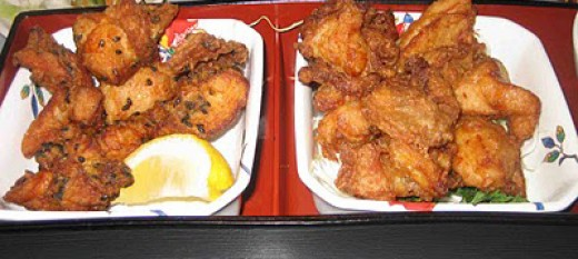 Gyotaku Chicken Karaage and Mochiko Chicken