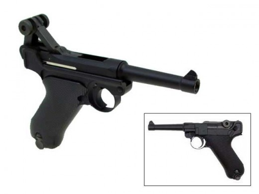 The WE Full Metal Luger Gas Pistol