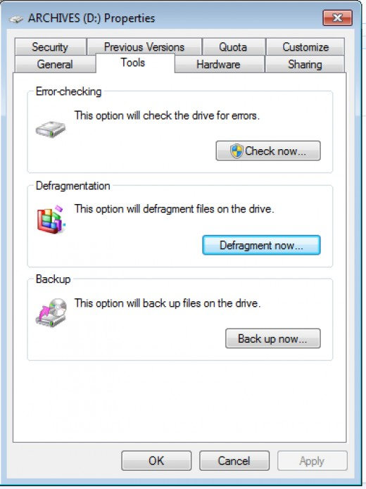 Defragment your Hard Drives