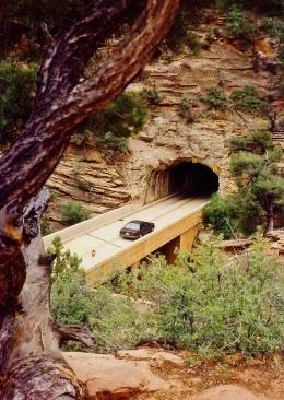 Mt. Carmel tunnel in Zion