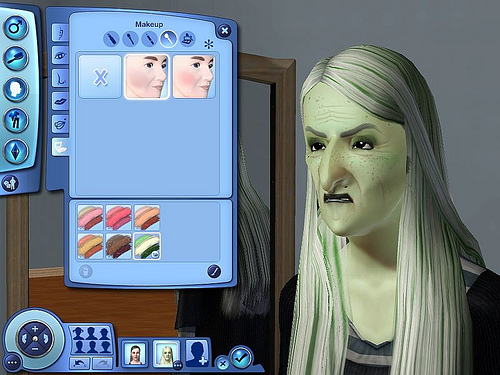 You can even make your Sim look like a witch!