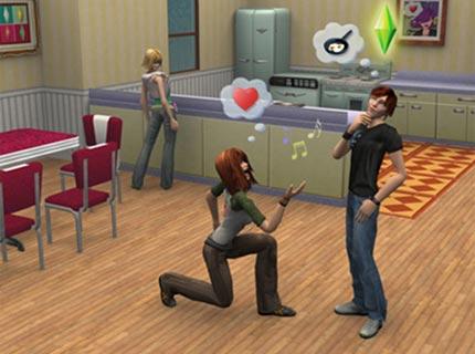 Sims expressing their love