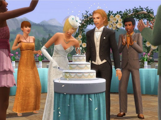 Sims can get married