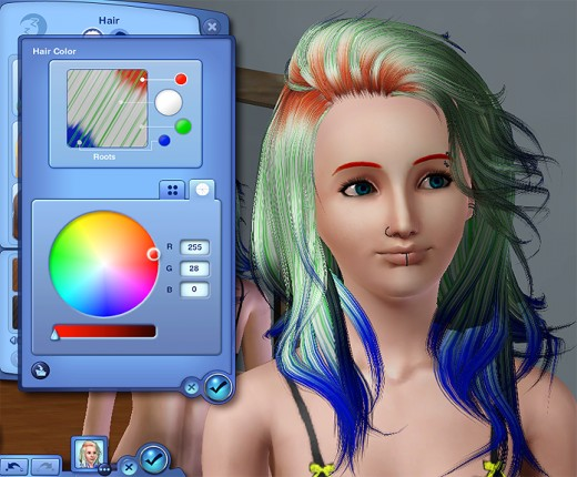 Your Sim can have any colour hair!