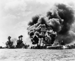 Pearl Harbour - warships after the attack